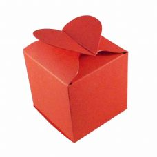 Red Heart Top Designer Favour Boxes
